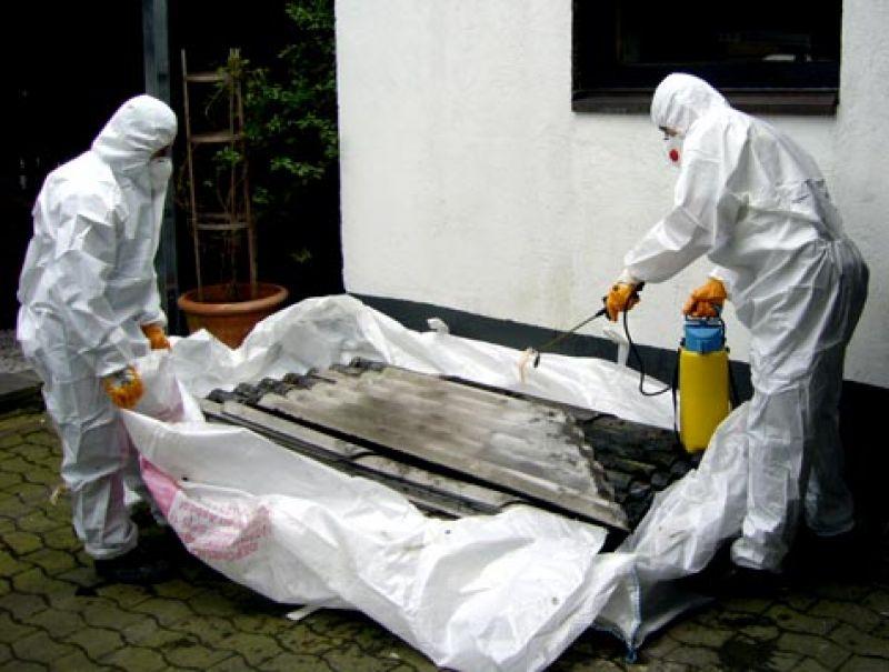 früher mit asbest gearbeitet